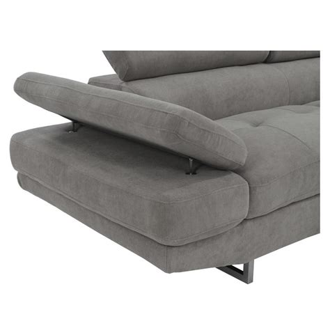 gray couch with chaise taheri gray sofa w right chaise el dorado furniture