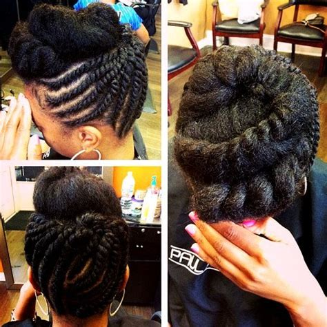 sliver twist braids 40 cute updos for natural hair page 30 foliver blog