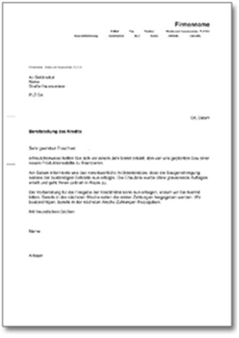 Musterbrief Anfrage Sponsoring Musterbrief An Die Bank 252 Ber Kreditabruf De Vorlage