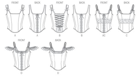 zelda corset pattern butterick 5935 misses corset