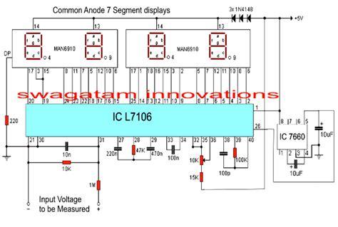 digital voltmeter circuit  ic  homemade