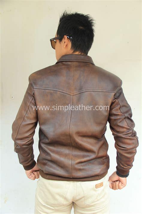 Jaket Kulit Cassual Pria Tipe Wol jaket kulit pria casual x101 simple leather