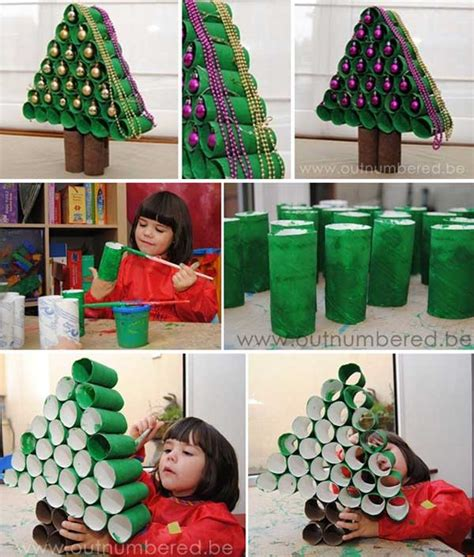 christmas decorations out of toilet rolls easy diy decorations ideas