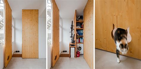 Cats Closet by This Storage Closet Has A Cat Shaped Opening So The Cat