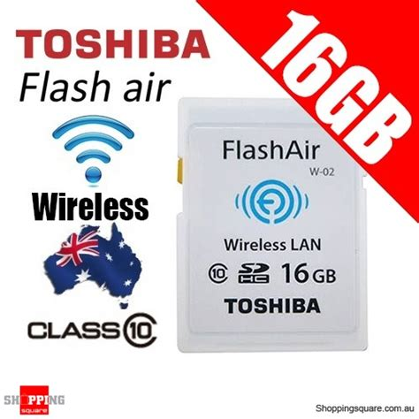 Toshiba Flashair Wireless Sd Card 16gb Class 10 Garan Diskon toshiba 16gb flashair wireless data transfer class 10 sd
