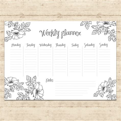 daily planner template ai weekly planner design vector free download
