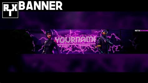 Fortnite Banner Template Free Download Speedart Youtube Fortnite Banner Template