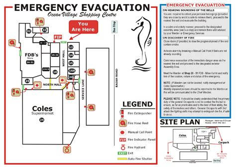 emergency evacuation plan pictures to pin on