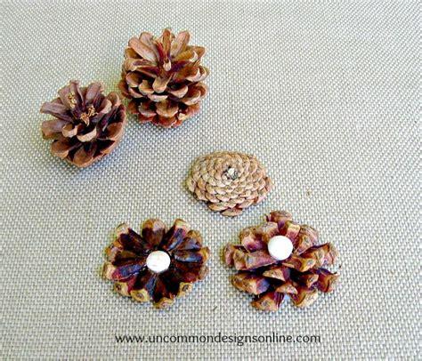 how to make pine cone flowers flower power pinterest pine cone flower embellished mason jar