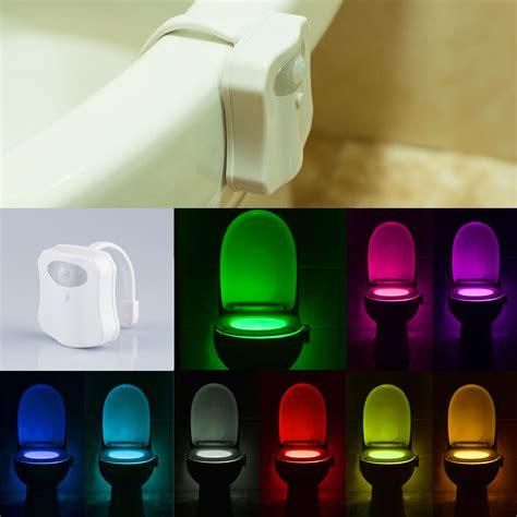 bathroom nightlight 16 9 8 colors led toilet bathroom night light motion