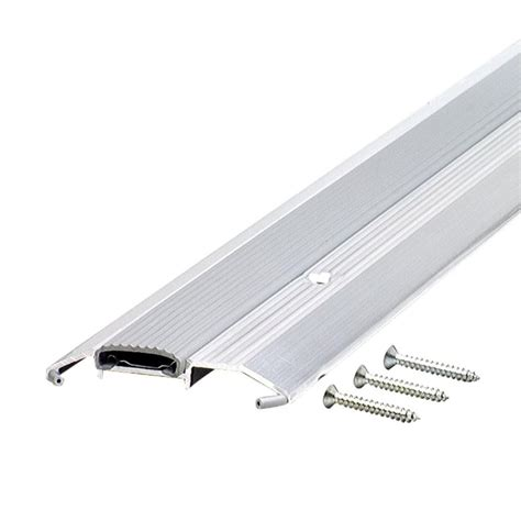 Aluminum Door Thresholds Exterior M D Building Products 6 Ft X 3 3 4 In X 3 4 In Vinyl And Aluminum Threshold 08151 The Home