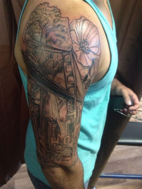 cali tattoos california half sleeve tattoos