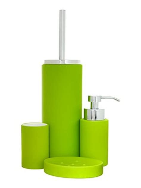 linea soft touch bath accessories in lime house of fraser