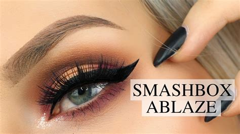 eyeshadow tutorial smashbox smashbox ablaze cover shot palette tutorial youtube