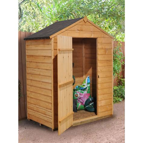 5x3 Shed by Forest Garden Overlap Apex Garden Shed 5 X 3 At Wilko