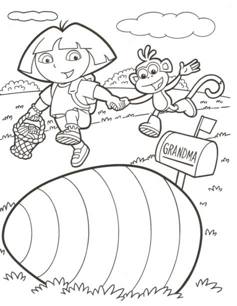 easter coloring pages dora easter colouring dora easter colouring page