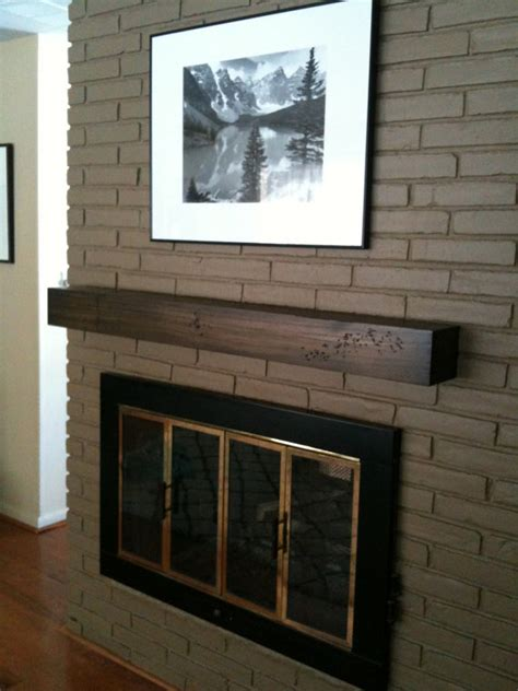 Floating Fireplace Mantel Shelf by Floating Modern Rustic Fireplace Mantel