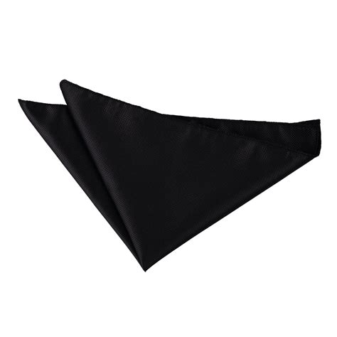 Black Pocket solid check black handkerchief pocket square