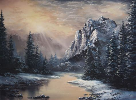 acrylic painting kevin paint with kevin hill sunlight the valley
