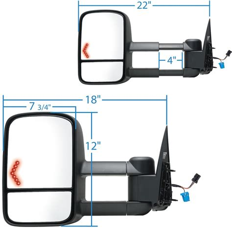 k source tow mirrors autos k source custom extendable towing mirrors w turn signals html autos weblog