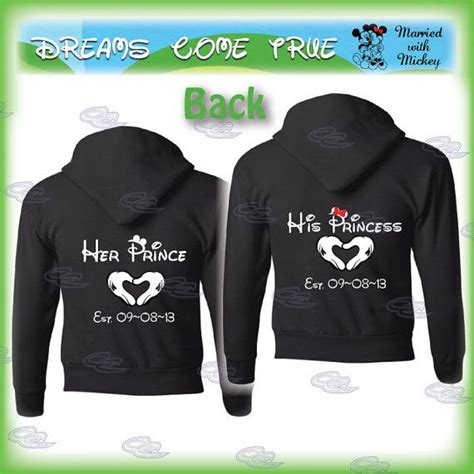Matching Sweatshirts For Couples Mickey Mouse Hoodies Quotes