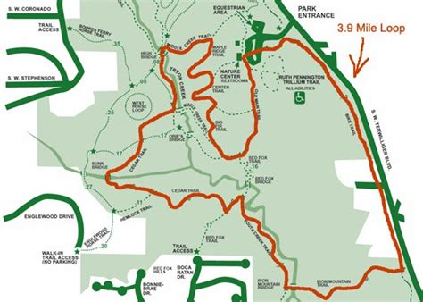 creek state park trail map pdx nature trails tryon creek maps