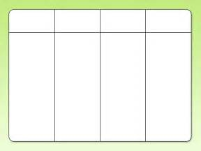 table chart template column blank template printable calendar template 2016