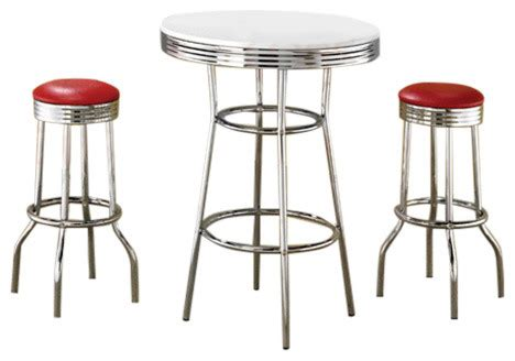 Retro Bar Table Soda Shop Table And Chairs Home Design