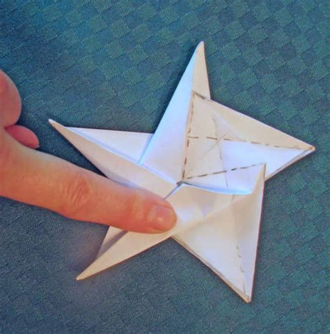 Five Pointed Origami - five pointed origami paper crafts scrapbooking