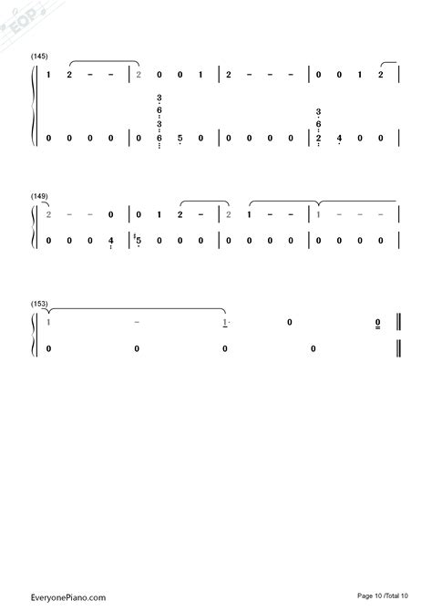 exo universe chord universe exo numbered musical notation preview 10 free