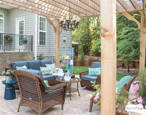 Patio Decorating Ideas Our New Outdoor Room Atta Girl Says Backyard Decorating Ideas