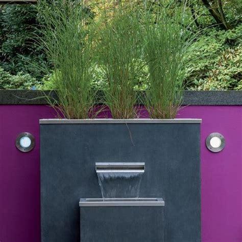 moderne gartenbrunnen garten im quadrat puristischer gartenbrunnen komplett