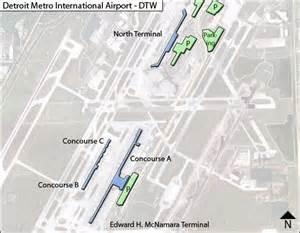 detroit airport map us airways dtw detroit metropolitian airport terminal maps