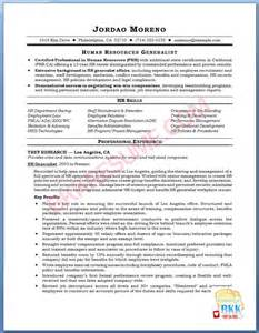 Resume Format For Hr by Resume Format Resume Exles Hr Generalist