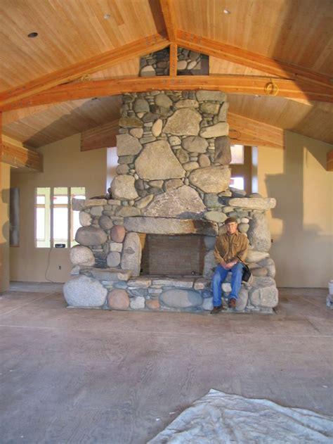 river rock fireplace design 17 best ideas about river rock fireplaces on for fireplace river rock decor