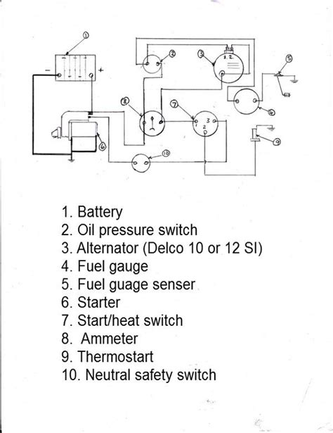 mf 165 wiring diagram alternator 28 images vehicle