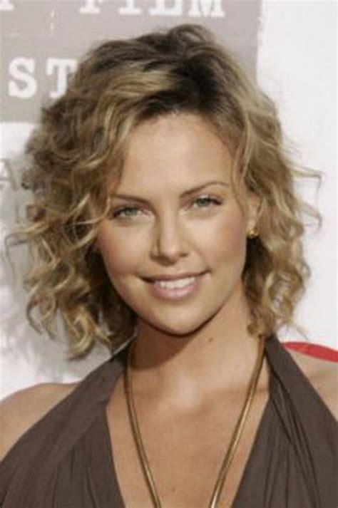 perm left to naturally on medium to hair medium length hairstyles curly hair