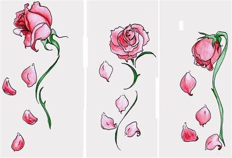flower petal tattoos falling petals tattoos tattoos