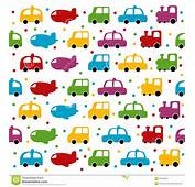 Seamless Toy Car And Plane Background Stock Vector