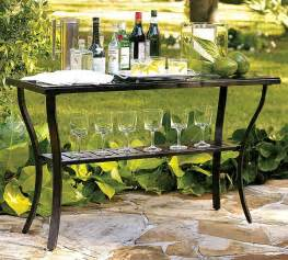 Outdoor Console Buffet Table Useful Outdoor Riviera Console Table