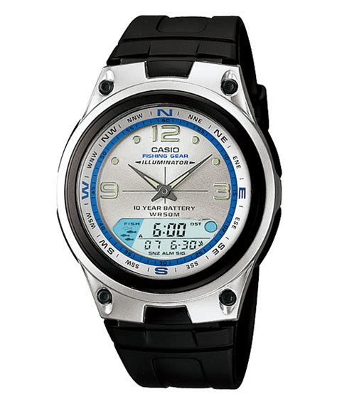 aw 82 1 by casio original casio analog digital mens black silicone aw 82