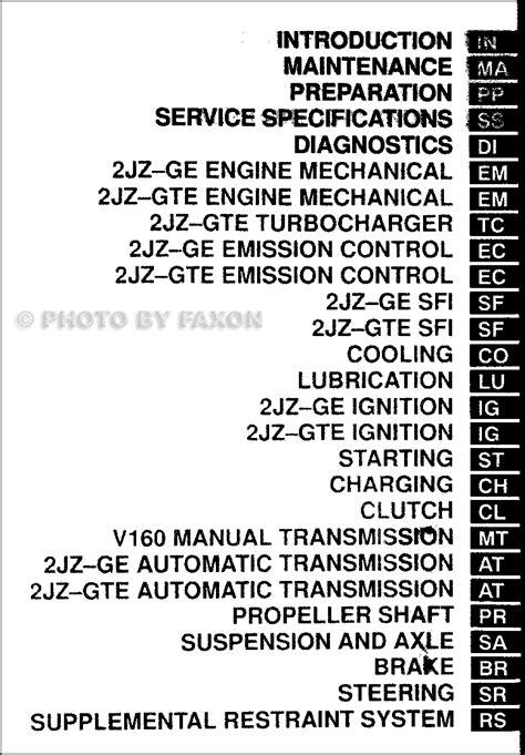 car repair manuals download 1998 toyota supra electronic toll collection 1998 toyota supra repair shop manual original 2 volume set