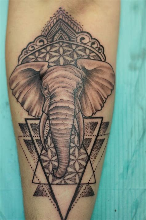tattoo brton queen st custom elephant tattoo black and grey tattoo by nikki