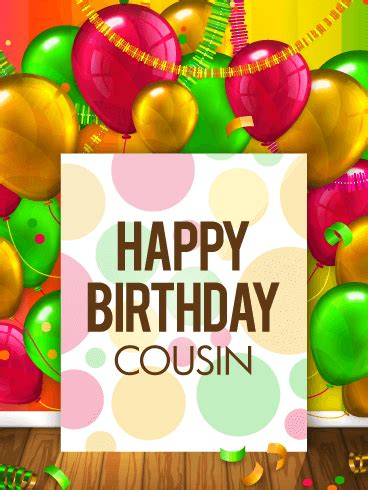 Free Cousin Birthday Cards For