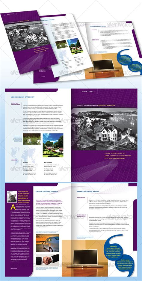 pages template brochure impressive templates for brochures