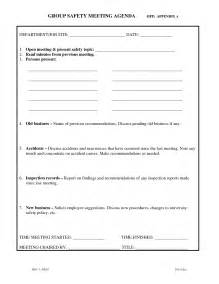 ohs committee meeting minutes template safety meeting agenda template best and professional