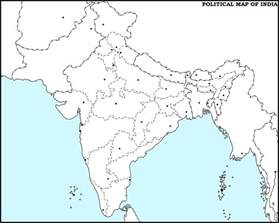 Blank Outline Political Map Of India by Blank Map Of India Political