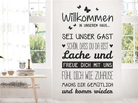 Wandtattoo Kinderzimmer Haus by Wandtattoo Willkommen In Unserem Haus Wandtattoo De
