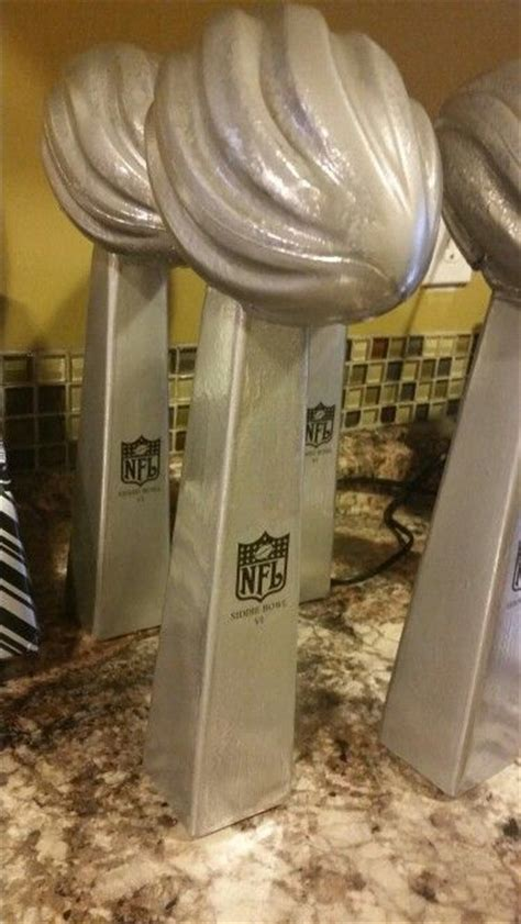 99 Cent Vases by Lombardi Trophy Centerpieces We Made Using 99 Cent Store