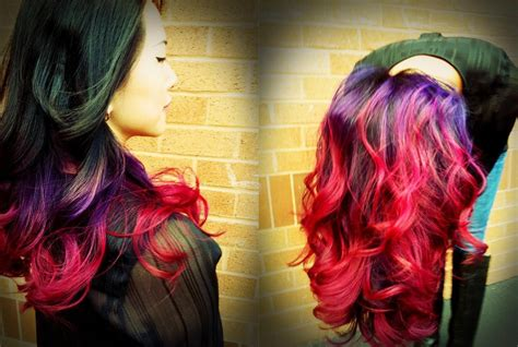 ombre colorful hair best ombre tutorial on purple to pink ombre